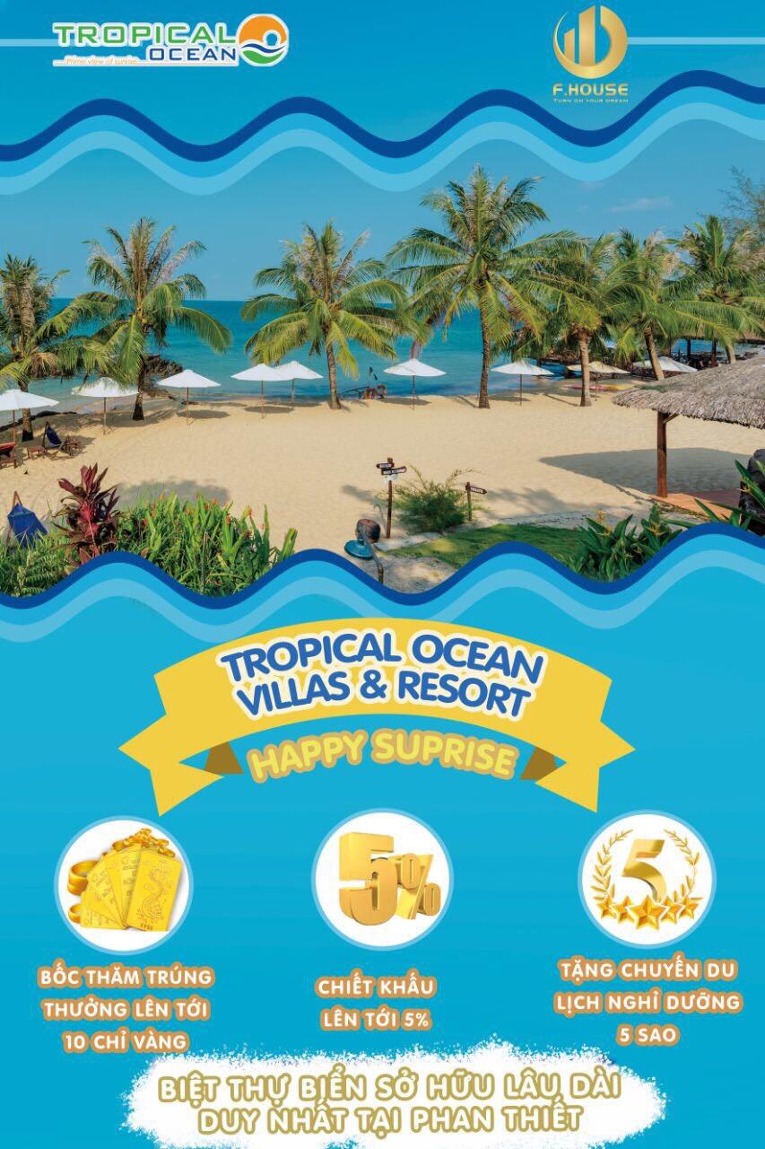 Tặng Voucher nghỉ dưỡng khách sạn 4* Tropical Ocean Villas & Resort 3N2Đ dành cho 02 người